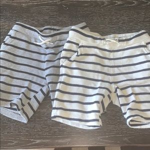 Lot of 2 old navy boys knit shorts